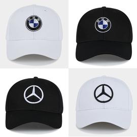 宝马BMW奔驰赛车帽子男棒球帽女潮汽车礼品AMG鸭舌帽F1赛车帽活动