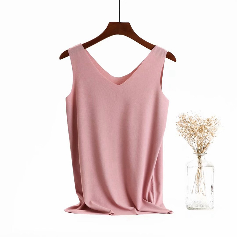 Womens Vest summer new modal ice silk sleeveless vest soft cool womens base vest