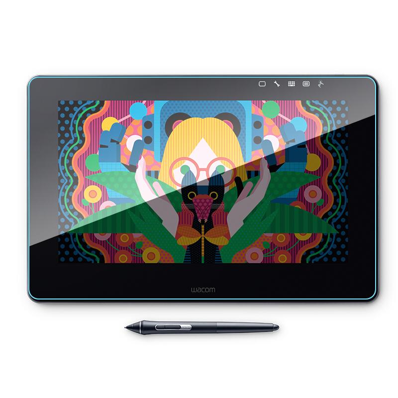 和冠Wacom新帝 Pro 13'DTH-1320 K0-F创意数位屏数位板屏幕保护贴膜非钢化膜纳米防爆防指纹高清膜