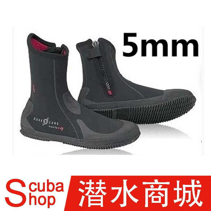 Aqualung Superzip Ergo 5mm дайвинг ботинок глубоко скрытая поплавок скрытая модельа толстая корка скольжение
