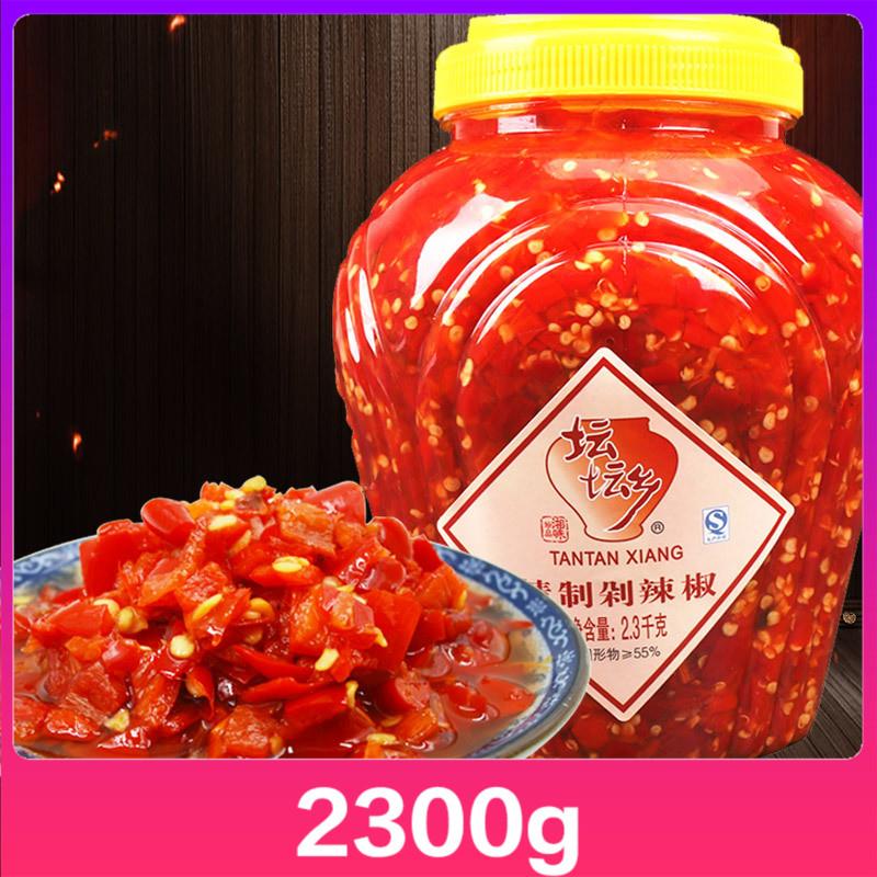 坛坛乡精制剁辣椒酱2.3kg剁椒酱鱼头湖南特产农家拌面下饭菜桶装