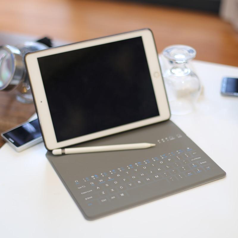苹果ipad键盘2018新款保护套9.7英寸Pro10.5寸Air2网红mini4皮套mini2蓝牙平板电脑超薄新版壳子6全包边3日韩