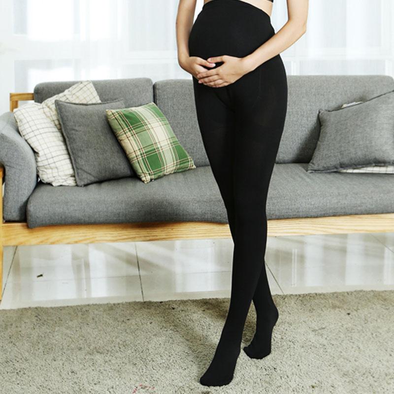 孕婦連褲襪托腹春秋薄款大碼可調節踩腳孕婦絲襪 打底褲襪子冬