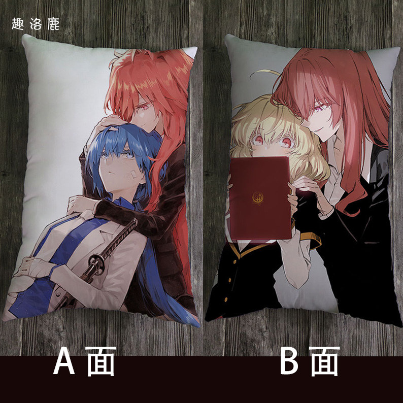 Mystery of the devil Wu zhiyiya animation around lunch pillow pillow sofa pillow half body pillow double-sided printing
