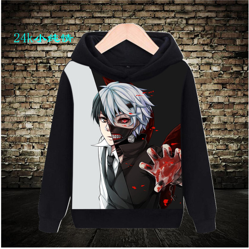 Tokyo Ghoul anime around autumn and winter Plush mens and womens long sleeve coat hooded space cotton sweater