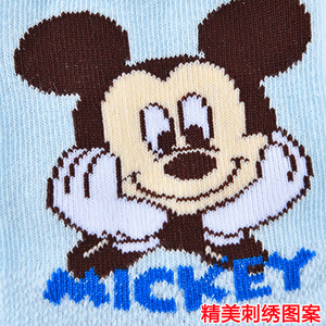 迪士尼儿童袜子男童春款网眼袜子宝宝女童中筒短袜学生小孩棉袜子