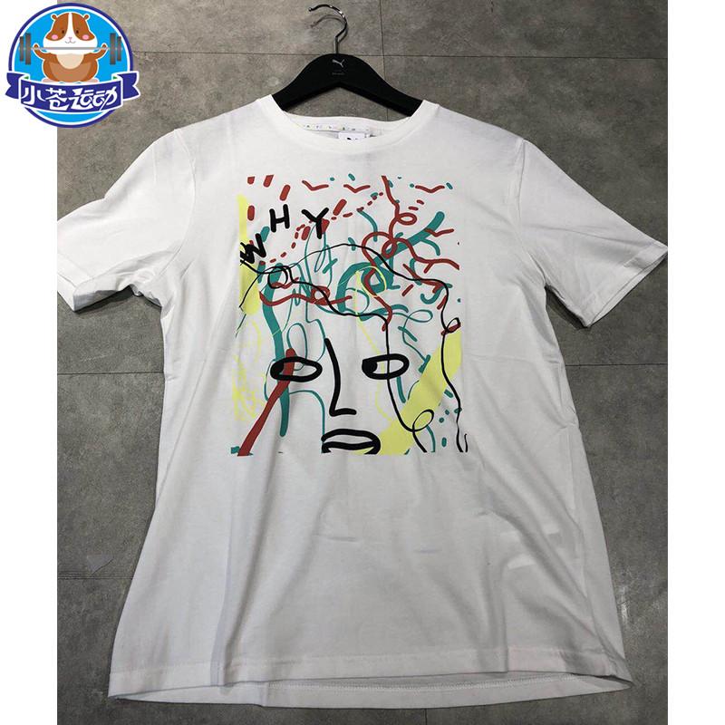 彪�RPuma Shantell Martin涂�f短袖T恤 �名女子上衣576544-01-52
