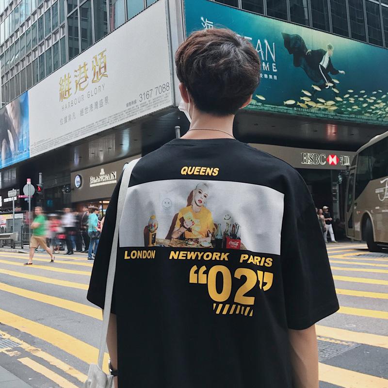 夏季男士短袖韩版宽松男生潮牌t恤11月08日最新优惠