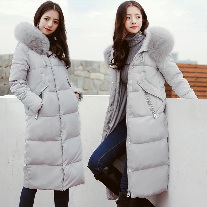 羽绒服Caogranger修身显瘦长款漠河雪乡东北哈尔滨旅游装备女