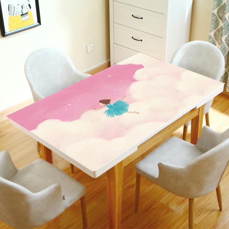 卡通儿童学习书桌写字台电脑网红桌布可爱少女心公主风软妹桌垫10月17日最新优惠