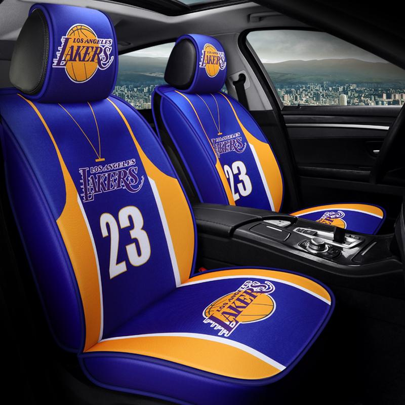 【新品】NBA运动篮球衣汽车座套四季通用全包围坐垫网红创意布艺