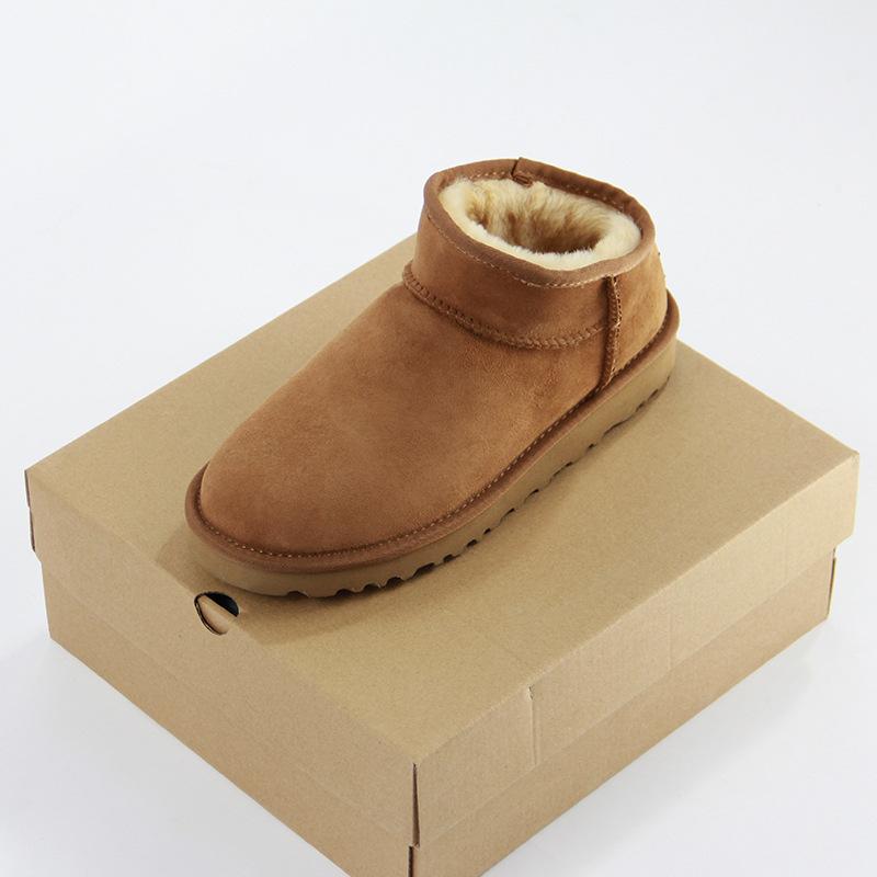 经典四色及踝低低帮防水皮毛一体雪地靴女士懒人鞋
