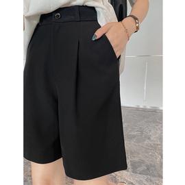 五分西装短裤女夏2020宽松薄款高腰a字垂感显瘦阔腿直筒港味中裤