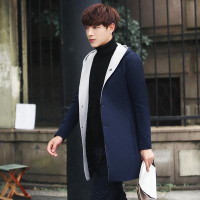 秋季中长款风衣男士大码青少年长风衣修身外套 已质检fy8811-P110