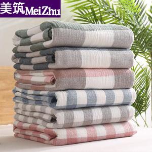 日式纱布毛巾被纯棉毛巾毯夏季薄款单人午睡毯子双人沙发盖毯床单