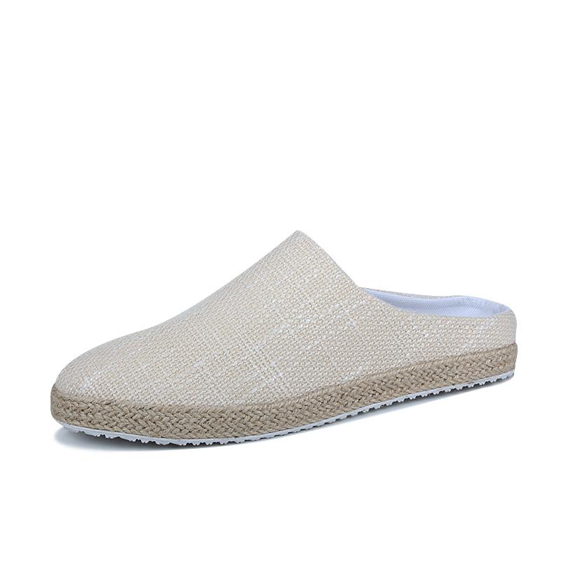 英倫豆豆涼拖鞋 新品包頭半拖鞋男士沙灘鞋懶人 潮男涼鞋