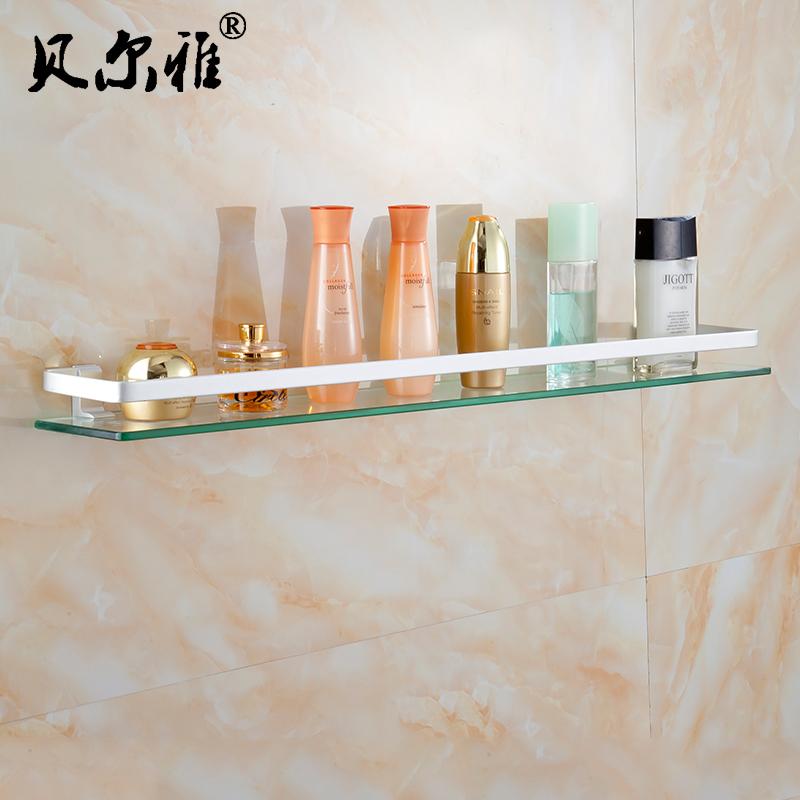 貝爾雅 太空鋁置物架 浴室玻璃置物架洗漱台化妝品架衛生間鏡前架