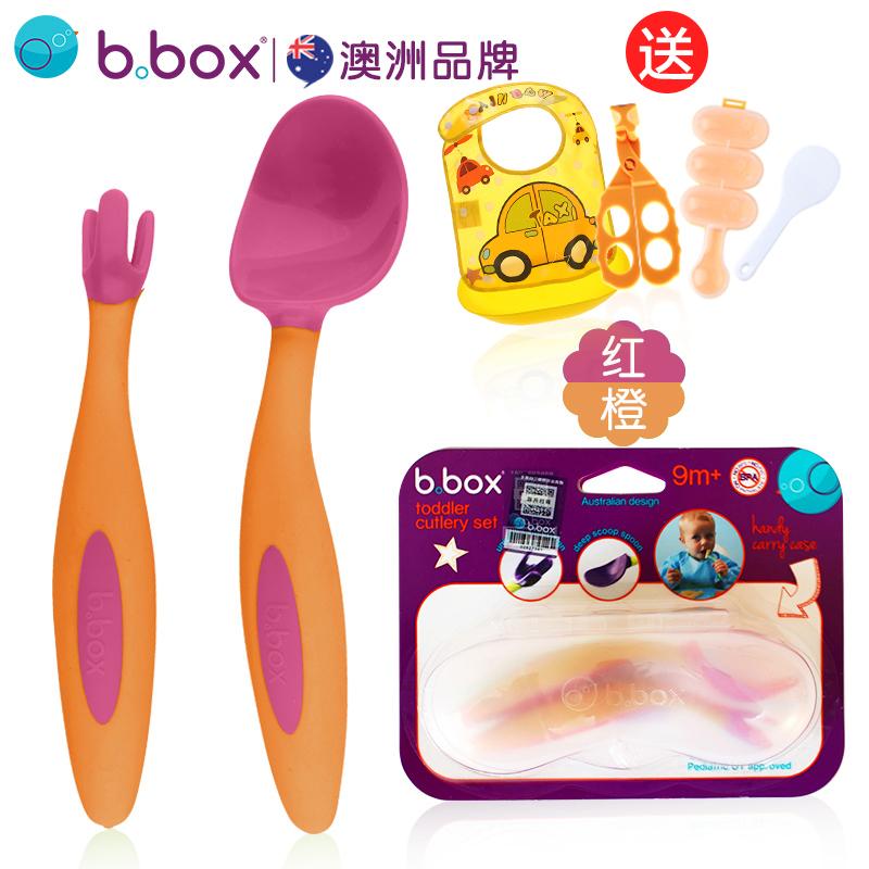 bbox勺子宝宝学吃饭训练勺子叉子儿童餐具婴儿辅食碗勺套装弯头勺