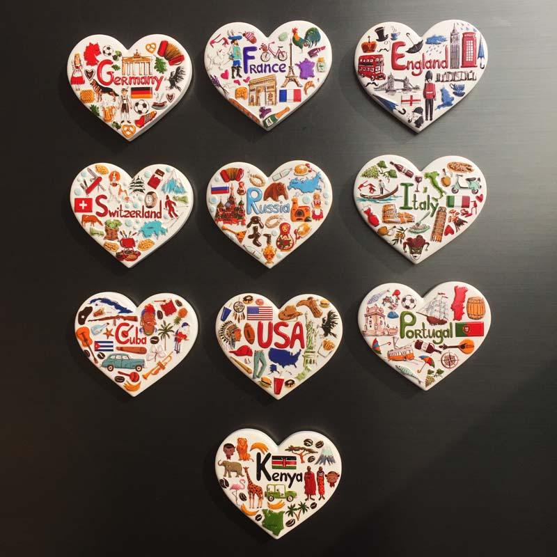 美国英国德国法国意大利古巴肯尼亚创意国家元素旅游纪念品冰箱贴