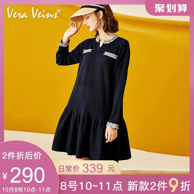 10-10新券2019秋季新款薇拉慕丝小香风娃娃裙