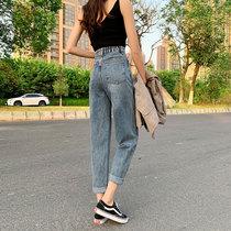 牛仔裤女裤夏季薄款直筒宽松高腰2020年新款九分阔腿显瘦老爹裤子