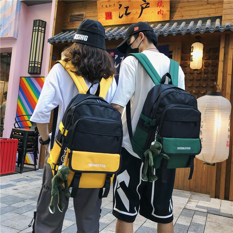 10-14新券女韩版大学生高中港风潮酷双肩包