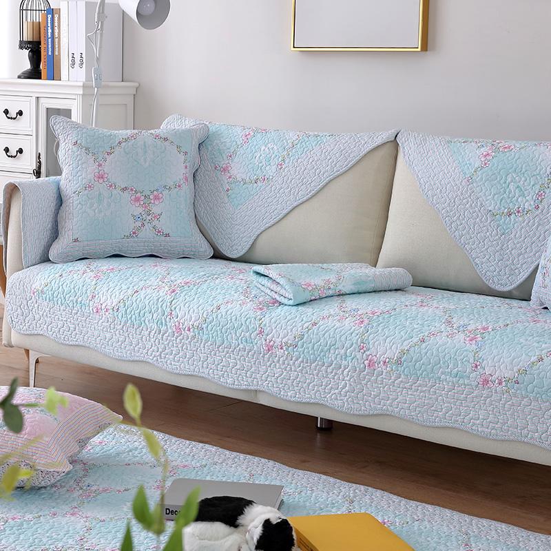 防滑沙发垫四季全棉布艺纯棉简约冬季田园坐垫组合通用皮沙发巾套