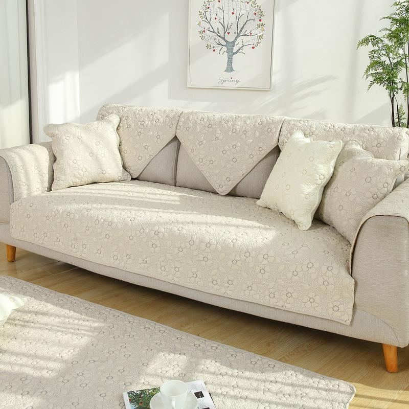 九只猫四季纯棉沙发垫通用防滑现代简约坐垫布艺沙发套沙发罩全盖