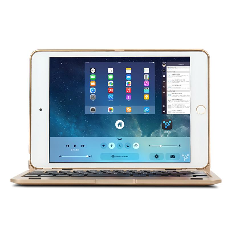 蘋果平板ipad mini2皮套超薄藍牙鍵盤mini4保護套休眠迷你3保護殼