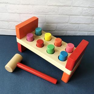 启蒙早教 6-12月1-2岁宝宝 益智儿童打桩台玩具 婴幼儿智慧敲打台
