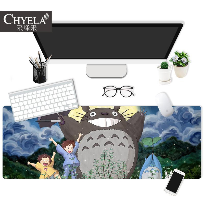 宫崎骏动漫龙猫卡通插画二次元周边电脑桌垫办公笔记本鼠标垫AU79
