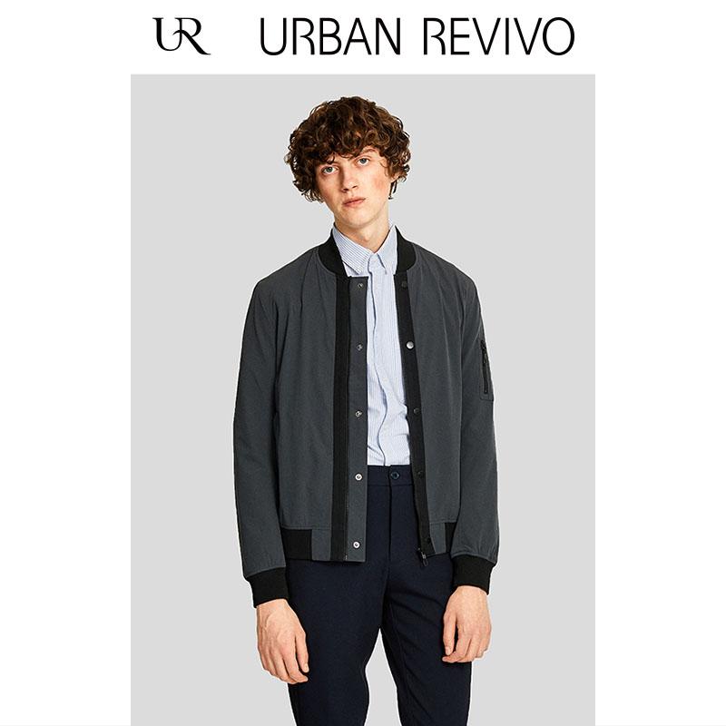 UR2018春夏新款男装修身立领拉链门襟时尚短夹克外套MF03S1EN2000