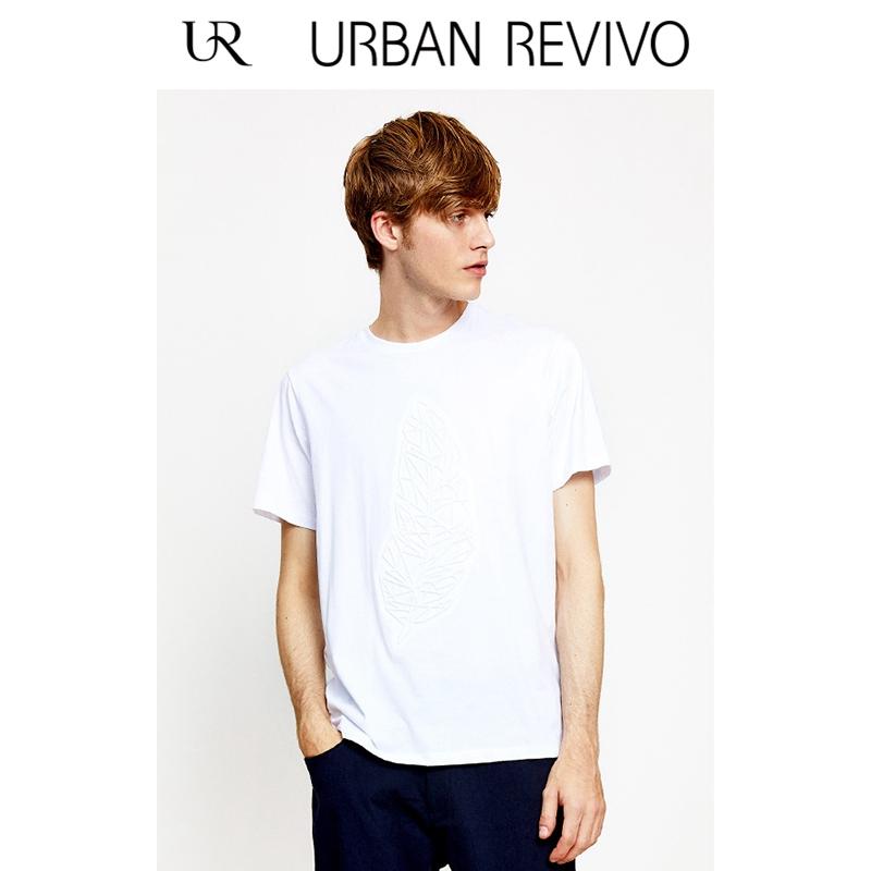 UR2018夏季新品男装合身简约纯色基础款短袖圆领T恤MF14R4EE2000
