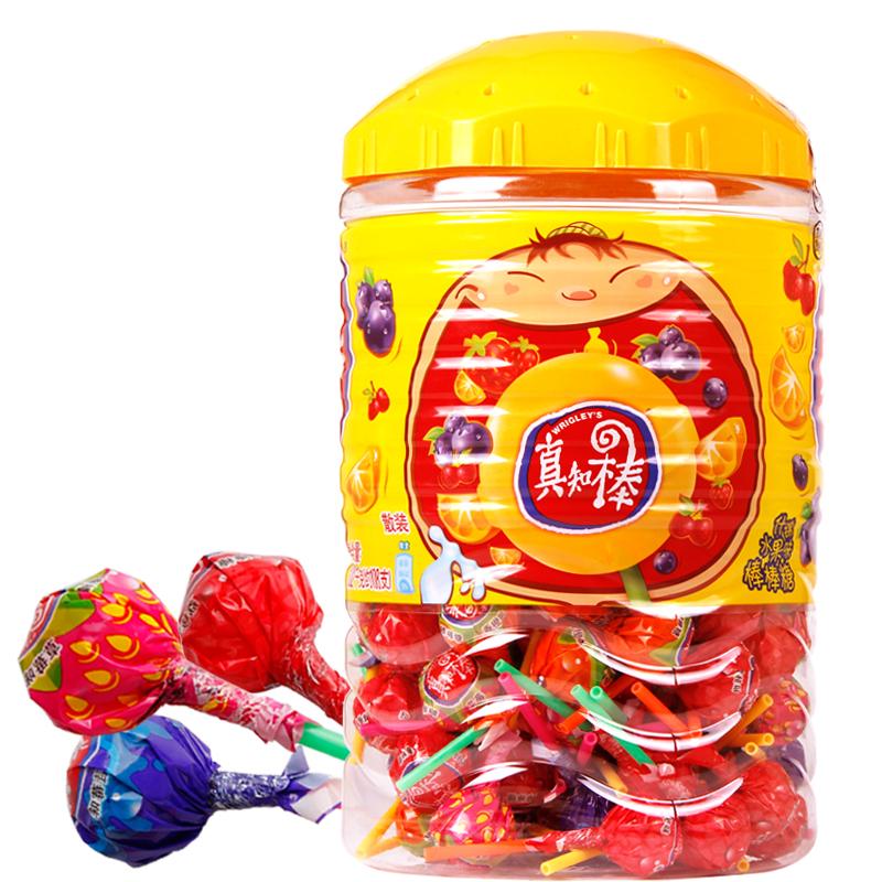 真知棒糖果水果糖棒棒糖约108支超大桶装儿童糖果喜糖企业批发