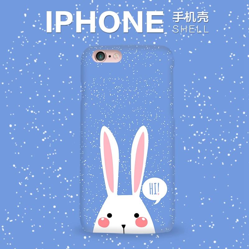 指尖迷戀 iphone6手機殼6s卡通雪花兔蘋果6plus矽膠軟殼5se潮女i7