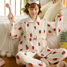 Fu duo's baby clothes: pajamas for pregnant women in autumn and winter, nursing clothes for pregnant women in winter, thickened air cotton nursing home clothes