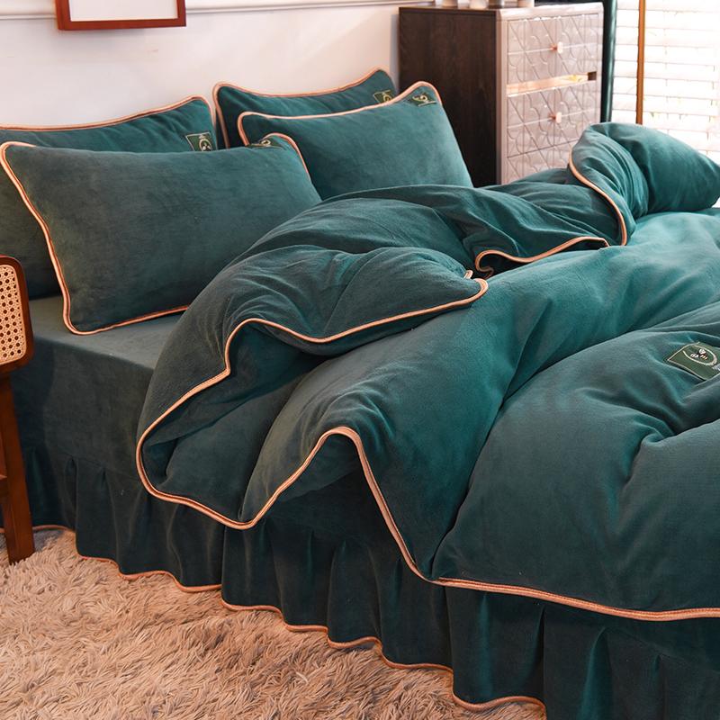 加厚珊瑚绒四件套床裙款罩床单评价如何