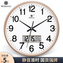 钟表挂钟客厅时尚创意个姓时钟挂表简约家用静音电子石英钟挂墙上