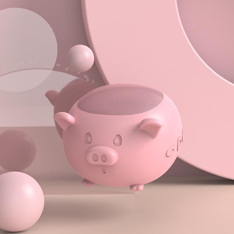 热销28件买三送一【萌猪驾到】可爱粉色小猪少女心小音响无线蓝牙创意迷你便携式小型音箱播放器卡通连手