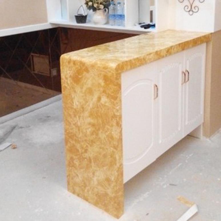 加厚pvc仿大理石贴纸烤漆墙纸自粘衣柜橱柜桌子台面家具旧门翻新