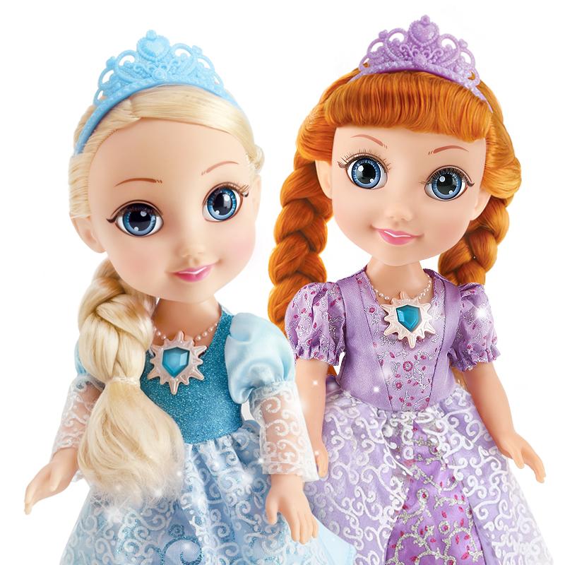 挺逗冰雪奇緣玩具女孩艾莎公主會說話的娃娃智能對話跳舞芭比娃娃