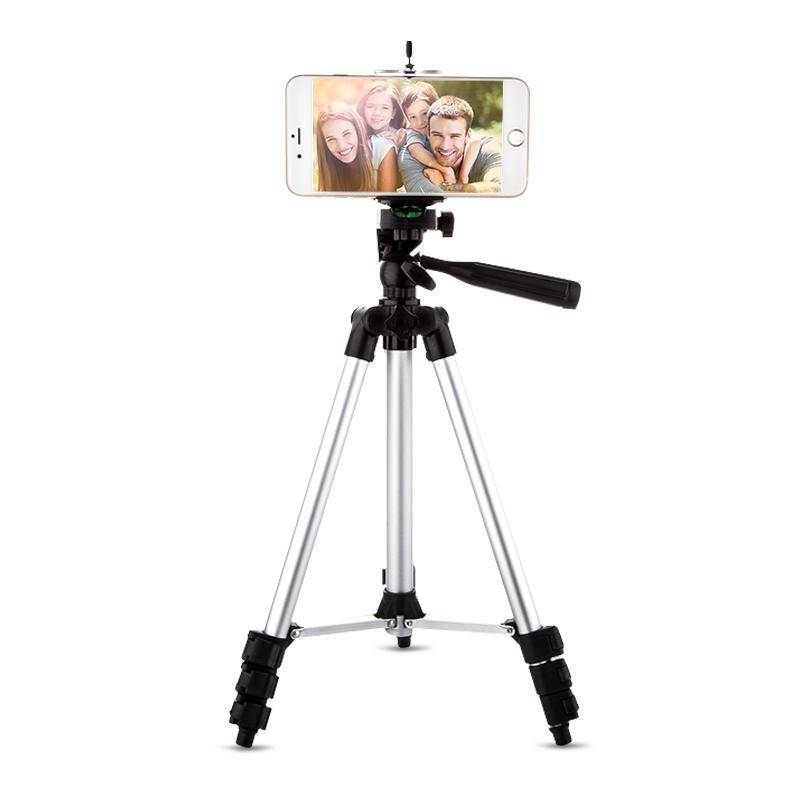 艾卡仕 三腳架手機直播支架夾三角架單反戶外數碼照相機便攜