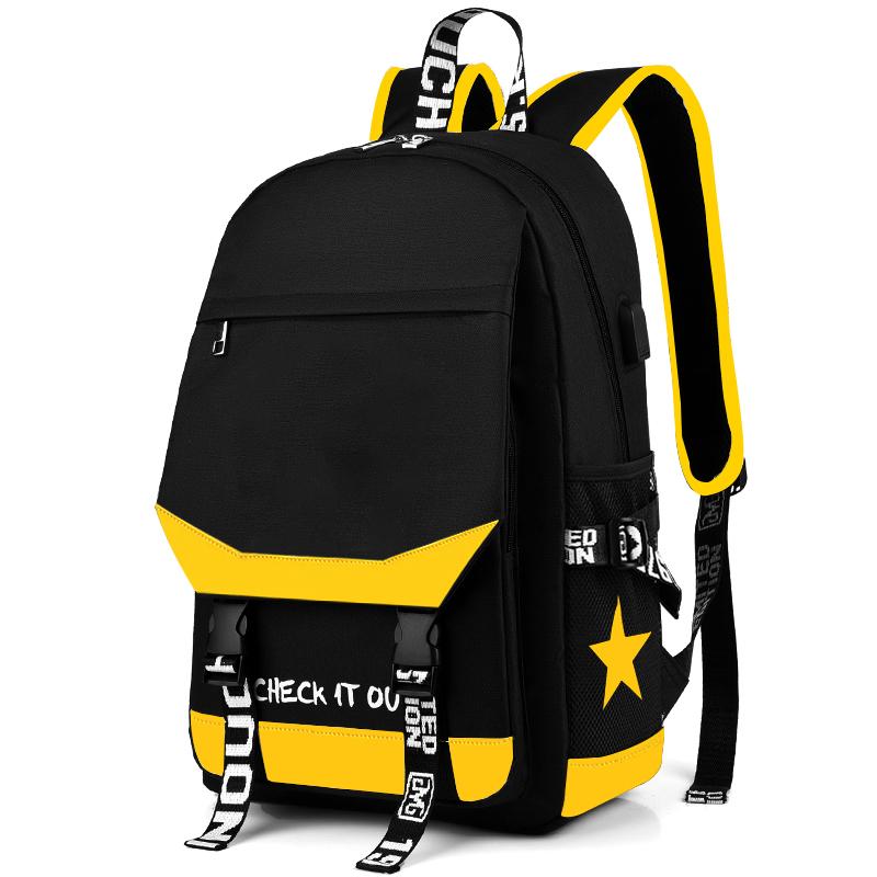 韩版书包男女双肩包儿童时尚潮流小学生背包高中初中学生电脑包
