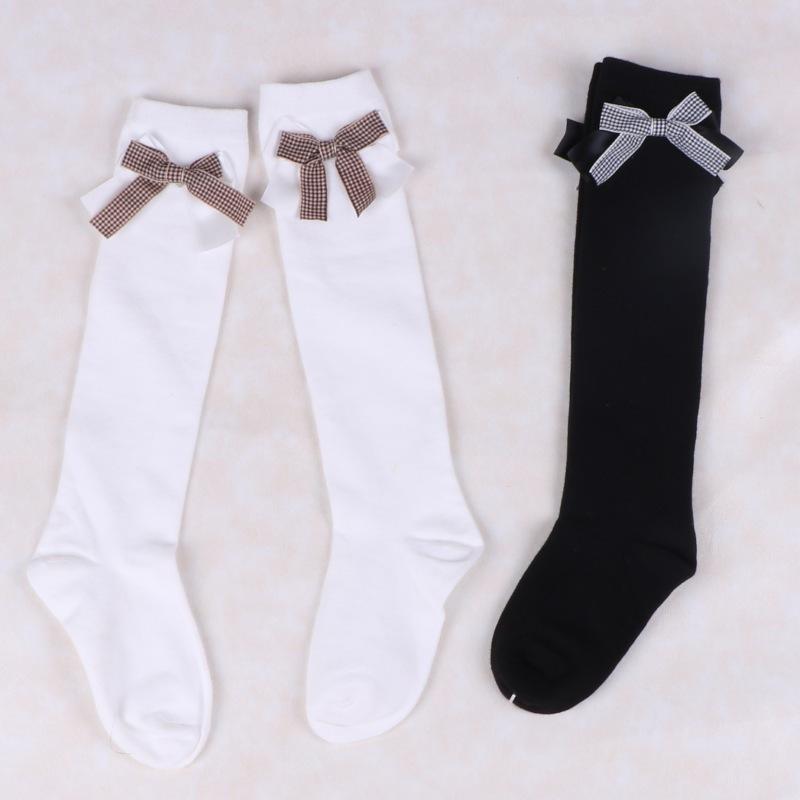 春夏女童纯棉过膝袜儿童半筒袜韩国花边公主长筒袜女孩白色高筒袜