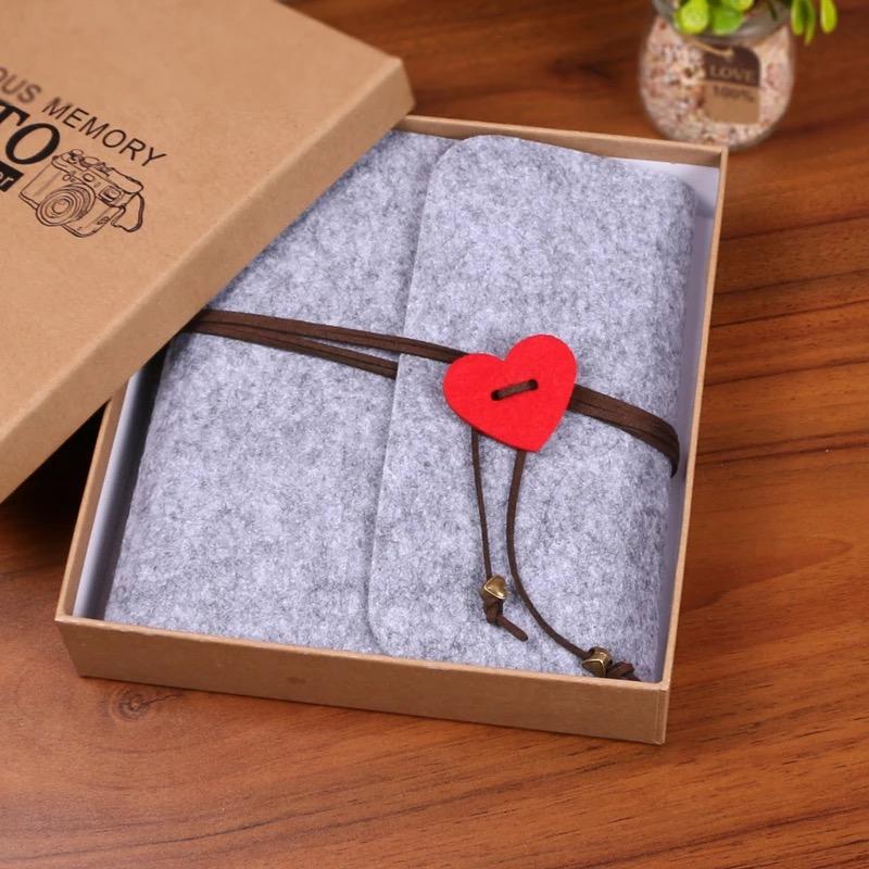 创意绑带毛毡手工DIY相册本粘贴式情侣浪漫拍立得纪念册生日礼物热销0件需要用券