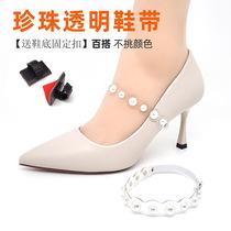 新款黑色一字带高跟鞋2019交叉绑带凉鞋女中跟两穿仙风女粗跟ck小