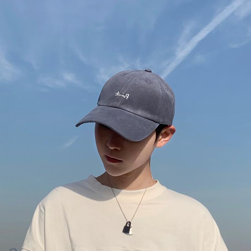 タオバオ仕入れ代行-ibuy99|帽子|帽子男潮新款帽子弯檐棒球帽男士灰色鸭舌帽ins潮流夏季男生帽子