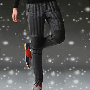 保暖棉裤 修身 高腰大码 羽绒裤 男女内外穿中青老年加厚鸭绒内胆冬季