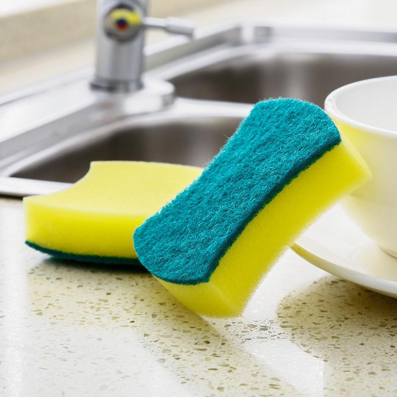 家用海绵擦百洁布洗碗布厨房清洁海绵块去污清洁布洗锅双面清洁擦