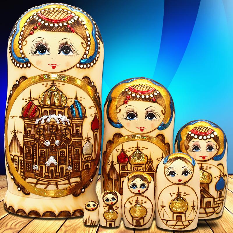 Импорт россия крышка ребенок 7 слой подлинный высушенный американская липа фестиваль подарок ребенок головоломка игрушка домой украшение A21